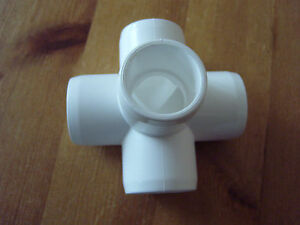 5 way 1/2 inch furniture grade pvc fitting two in pack