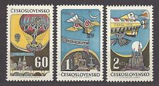 Czechoslovakia 1968 MNH ** Mi 1767-1769 Sc C72-C74 AIR POST STAMPS  Aviation.