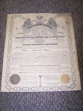 ANTIQUE - ANCIENT ACCEPTED SCOTTISH RITE OF FRE-MASONRY 32ND LAST DEGREE - 1920