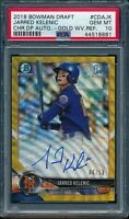 PSA 10 JARRED KELENIC AUTO 2018 Bowman Chrome GOLD WAVE REFRACTOR #/50 GEM MINT