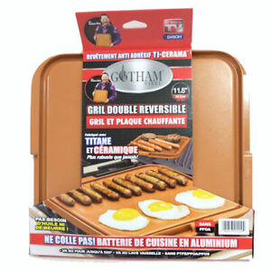 Gotham Steel Titanium & Ceramic Non-Stick Double Sided Grill & Griddle Pan