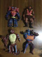 Vintage He-man Bundle Two Bad , Motu , Grizzlor , Mantenna Action Figures