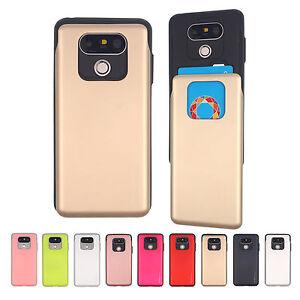 GOOSPERY Sky Slide Card Holder Slot Bumper Cover LG G8 G7 G6 V50 V40 V30 Case