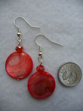 Shell Drop/Dangle Coral Costume Earrings