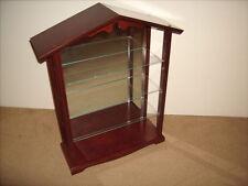 Lenox Bird Display Shelf Rack Wood Mirrored Cabinet Garden Bird Collection Nice!
