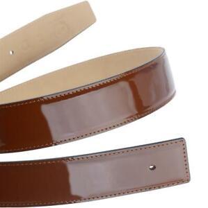 Lack Ledergürtel Cognac Braun Gürtel für 32mm Schnalle H Schliesse Echtleder 30