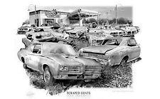 "PONTIAC GTO  ""RUSTY RELICS"" MUSCLE CAR AUTO ART PRINT   ** FREE USA SHIPPING *"