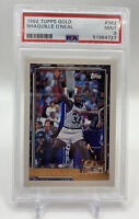 1992-93 Topps GOLD Shaquille O'Neal Rookie Card RC #362 HOF. PSA 9 Mint RARE!!