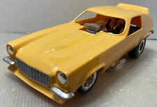 E103 Yellow Cox Vega Drag Funny Car Gas Powered Tether Race Cars Motor Spins