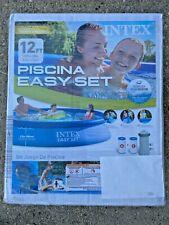 Intex 3.7m X 30in Piscina Est Set Sopra Terra Piscina Con Lima Pompa Nuovo