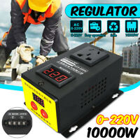 0-220V 10000W Variable Voltage Controller For Fan Speed Motor Temperature  !