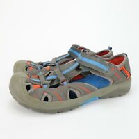 Merrell Hydro Womens Leather Hiker Sport Sandals Gray Blue MY53376 Size 6 M