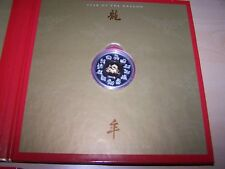 2000 Year of the Dragon $15 Silver with Gold Plated Cameo Coin & Stamp Set