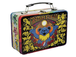 Grateful Dead Dancing Bears Large Tin Tote Lunchbox, Lunch Tote NWT