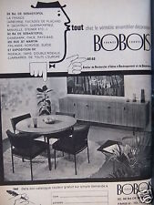PUBLICITÉ 1962 BOBOIS ARIAD ENSEMBLIER DÉCORATEUR - ADVERTISING
