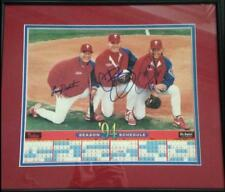 1994 Phillies Schedule Autographed by Darren Daulton, Lenny Dykstra and Curt Sch