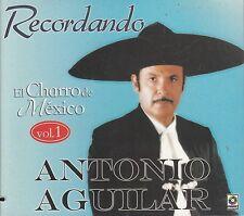 Antonio Aguilar Recordando El Charro De Mexico Vol 1 Caja De Carton CD Sealed