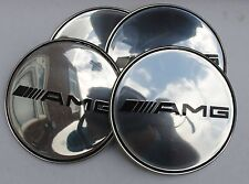MERCEDES AMG Wheel Hub Caps Badge Emblem Stickers 65mm Set of 4 EPOXY RESIN