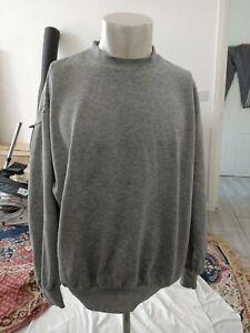 VINTAGE Reebok Unisex Sweatshirt Jumper Grey color SizeL fit chest up to 48Rin