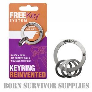 FREEKey SYSTEM EDC Keyring Free Key Organiser Ring Gadget Pocket Holder Gift Fob