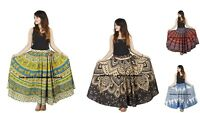 Plus Size Long Maxi Skirt Long Skirts for Women Boho Mandala Indian Cotton Skirt