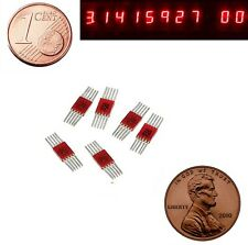 7 segment LED Display Numeric Red Digital USSR L104G = SEL620 Lot of 6 pcs