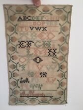 1836 Lancaster County Pa Pennsylvania Folk Art Alphabet Sampler by Mary Vonneida