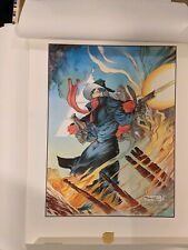 The Shadow - Ablaze Michael Kaluta First Team Press Lithograph Limited 1201/2500