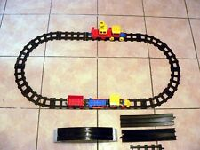 Vintage Lego Duplo Train & Carriages &  Black Tracks  Extras People
