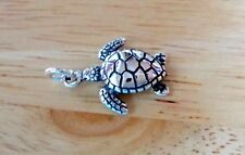 Sterling Silver 14x17mm Small Ridley Loggerhead Sea Turtle Charm