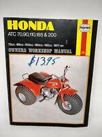 Haynes Owners Workshop Manual Honda ATC 70 90 110 185 200
