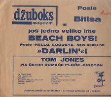 """THE BEACH BOYS-DARLIN'-RARE ORIGINAL YUGOSLAV 7"""" 33 1/3 rpm FLEXI 1968-JUGOTON"""