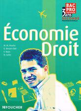 Economie Droit - Bac Pro Tertiaires - Seconde 2 professionnelle - Foucher 2010