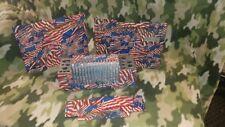 CUSTOM Kenwood TS-440 covers USA Flag 4 pcs.