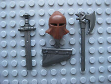 Custom EXECUTIONER Accessory PACK for Lego Minifigures Axe Hood Guillotine Sword