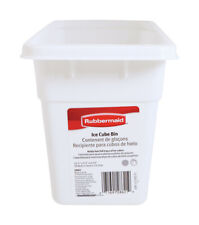Rubbermaid Ice Cube Bin 12-1/8 in. Plastic White