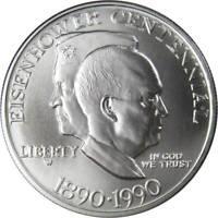 1990-W $1 Eisenhower Centennial Commemorative Silver Dollar Choice Uncirculated