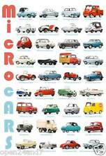 """AUTOS """"MICRO CARS V.2"""" POSTER -45 Models: Ardex,Hillers,Goggomobil,Bond,Biscuter"""