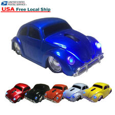 VW Classic Beetle Car wireless Mouse USB Optical 2.4Ghz Mice for Laptop PC Blue