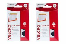Velcro 16mm Stick On Hook & Loop circle coin shape Black 32x Sets