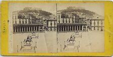 Naples Napoli Italia Château Sant'Elmo Place Royale Vintage stereo stereoview