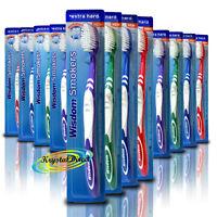 12x Wisdom Addis Smokers Toothbrush Extra Hard Bristle Tooth Brush