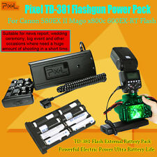 Pixel TD-381 Flashgun Power Pack For Canon 580EX II Mago x800c 600EX-RT Flash