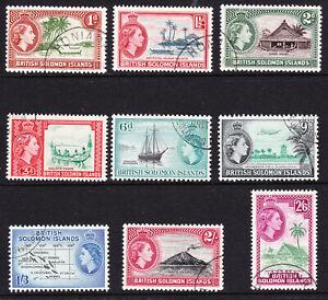 Solomon Islands-1963/64 QE11 Set complete, SG103/111. Very fine used.