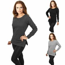Lange Damen-Pullover aus Polyester ohne Muster