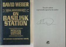 Signed 20th Anniversary ON BASILISK STATION David Weber LEATHERBOUND HARDCOVER