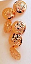 6 Quality Brass Look MILITARY Style Blazer Sport Jacket Coat Buttons Small 15mm