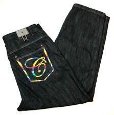 Russo Spirit 44x32 Underground Denim Jeans Hiphop Streetwear Rainbow Thread