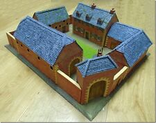 GEMINCOURT FARM COMPLEX - BATTLEFIELD BUILDINGS - PAINTED - 28mm - NAPOLEONIC