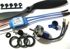 UK Seller 24g 1300kV Blue Wonder Brushless Motor + ESC + Prop Kit Combo 3D Plane